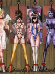 D.Va, Widowmaker, Mercy and Tracer