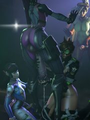 D.Va, Mercy, Tracer and Widowmaker