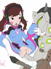 D.Va and Genji