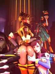 D.Va, Tracer and Winston