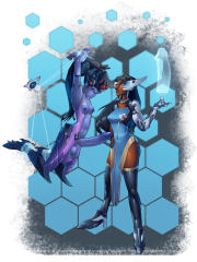 Symmetra and Widowmaker
