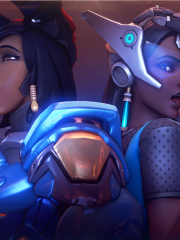 Genji, Pharah, Soldier 76 and Symmetra
