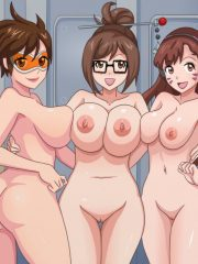 D.Va, Mei and Tracer