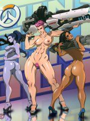 Pharah, Widowmaker and Zarya