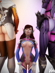 D.Va, Mercy and Widowmaker