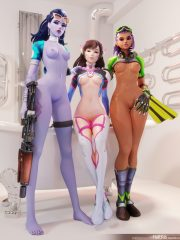 D.Va, Sombra and Widowmaker