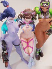 D.Va, Sombra and Widowmaker