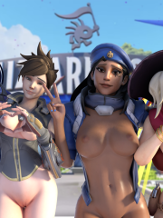 Ana, Mercy, Tracer and Widowmaker