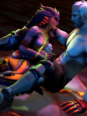 Soldier 76 and Symmetra