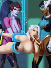 Ashe, Symmetra and Widowmaker