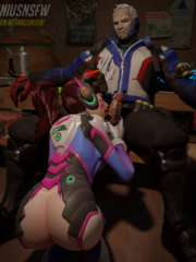D.Va and Soldier 76