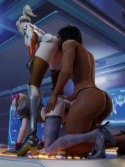 D.Va, Mercy and Pharah