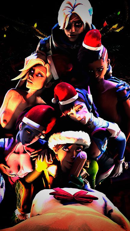 2059876 - AllMightyYadio Ana_Amari Christmas D.Va Mercy Overlook Sombra Source_Filmmaker Tracer Widowmaker