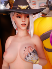 Ashe, D.Va, Mercy, Tracer and Widowmaker