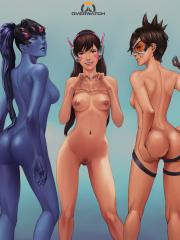 D.Va, Mercy, Symmetra, Tracer and Widowmaker