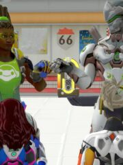 D.Va, Genji, Lucio and Mercy