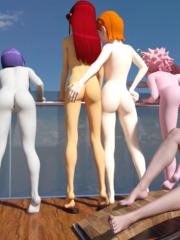 D.Va, Mei, Tracer and Widowmaker